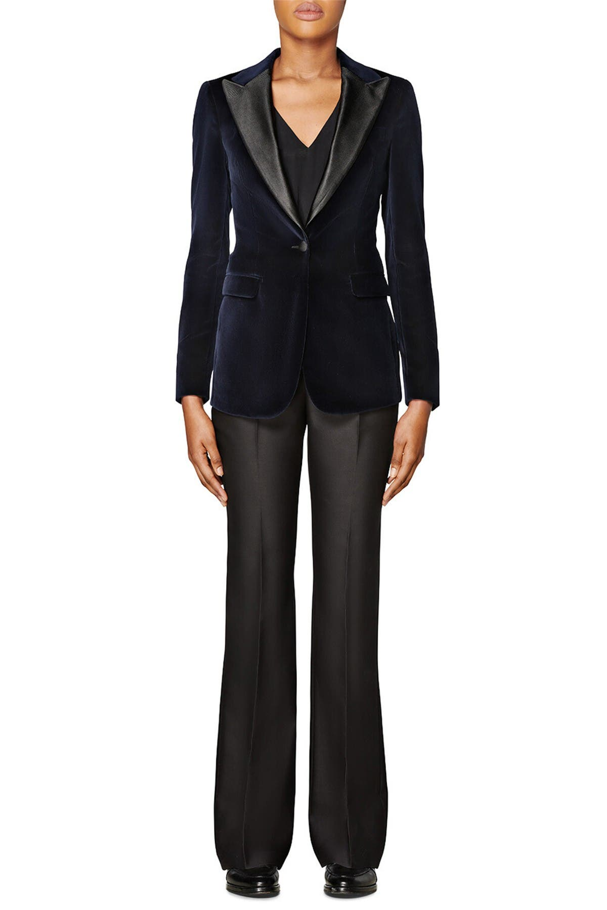 Image of SUISTUDIO Cameron Peak Velvet Tuxedo Jacket