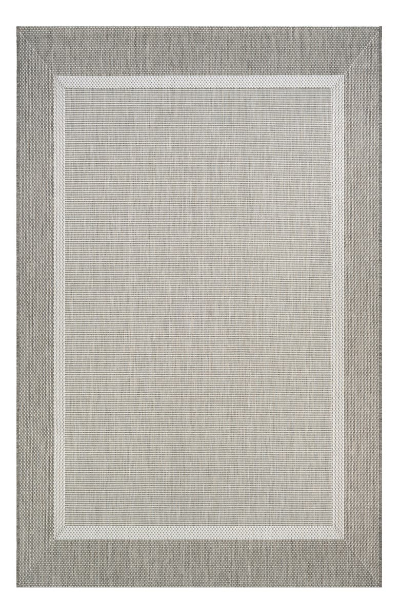COURISTAN Stria Texture Indoor/Outdoor Rug, Main, color, CHAMPAGNE/ TAUPE