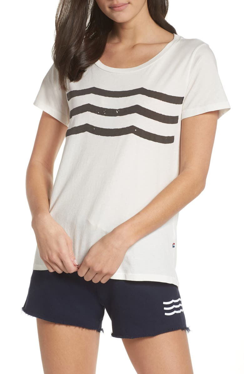 SOL ANGELES Waves Tee, Main, color, D WHITE