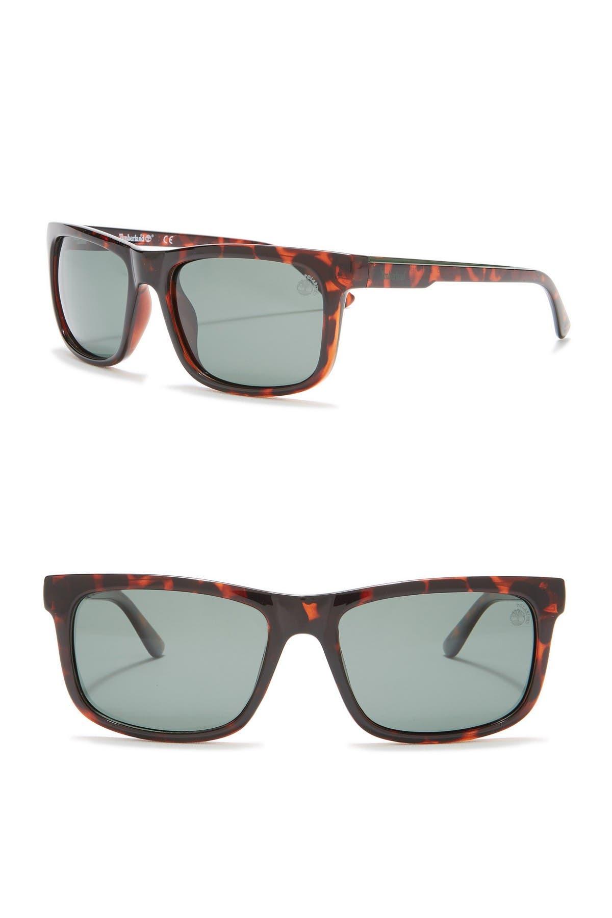 Image of Timberland Polarized 56mm Retro Sunglasses