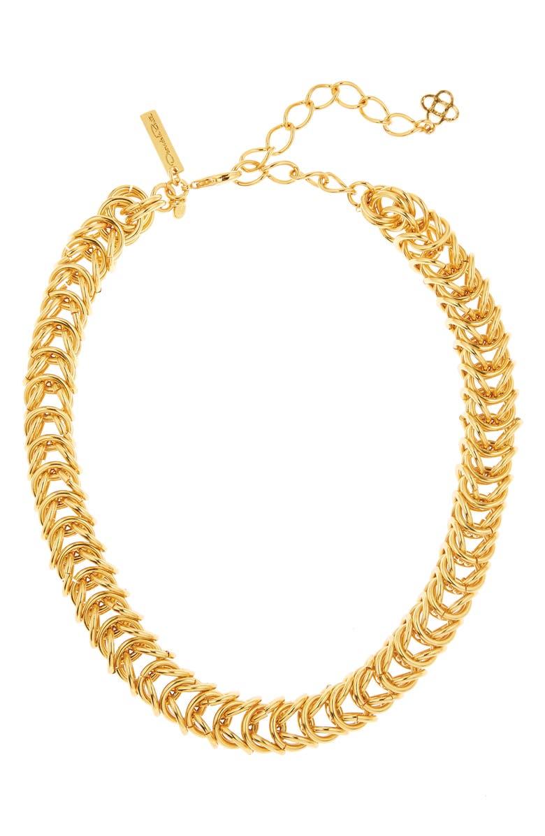 OSCAR DE LA RENTA Tubular Chain Necklace, Main, color, 710