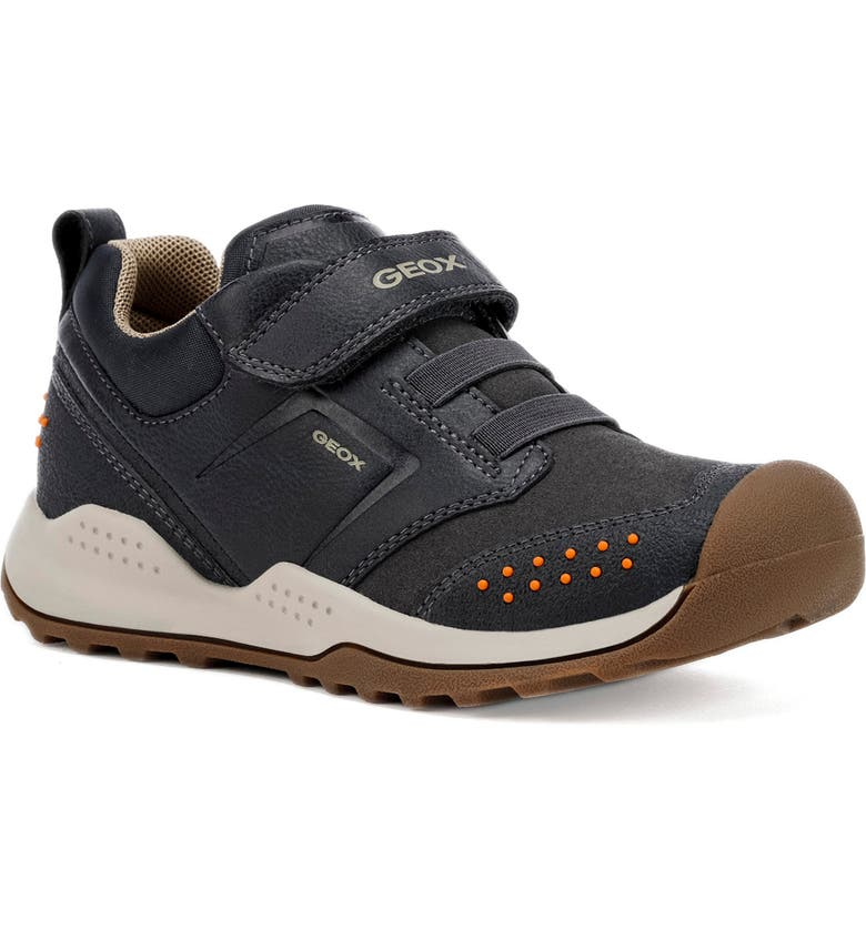 GEOX Teram Sneaker, Main, color, NAVY/ DARK ORANGE