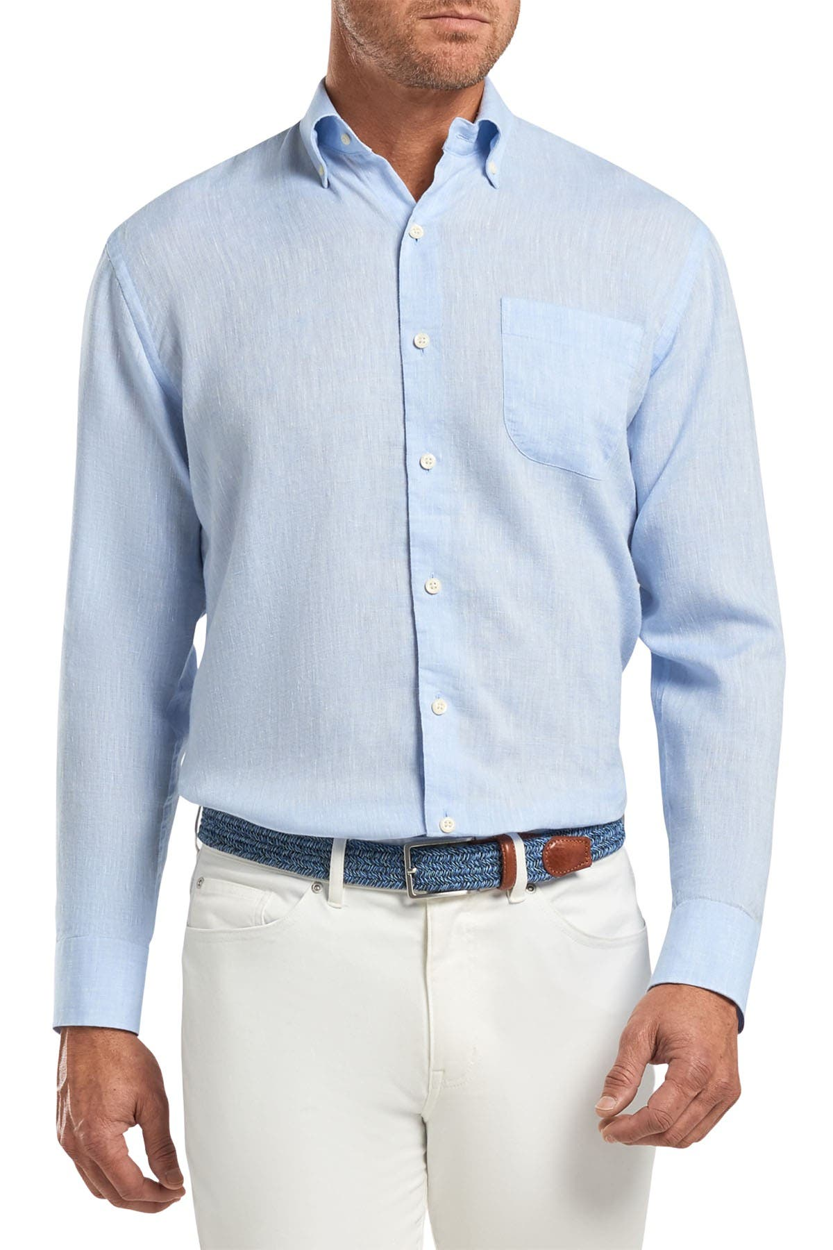 Image of Peter Millar Sardinia Solid Classic Fit Shirt