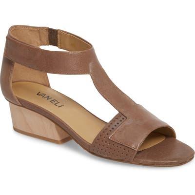 Vaneli Calyx Block Heel Sandal, Beige