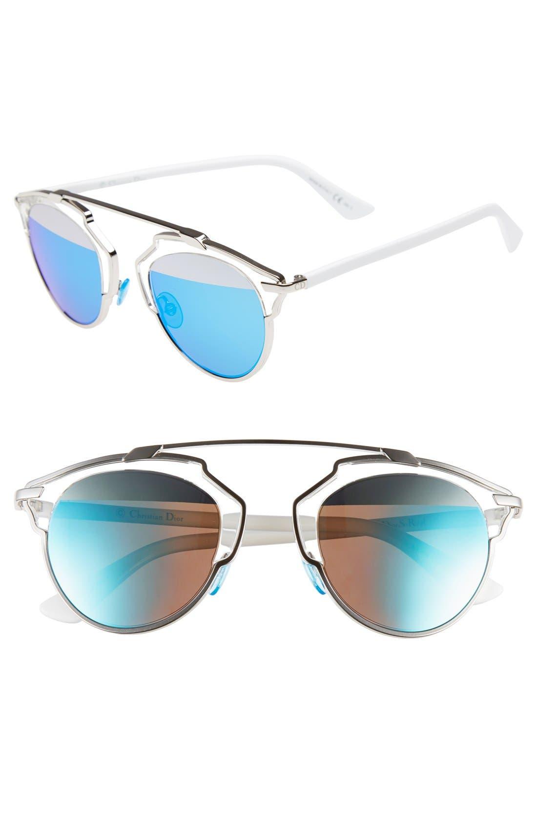 ,                             So Real 48mm Brow Bar Sunglasses,                             Main thumbnail 36, color,                             044