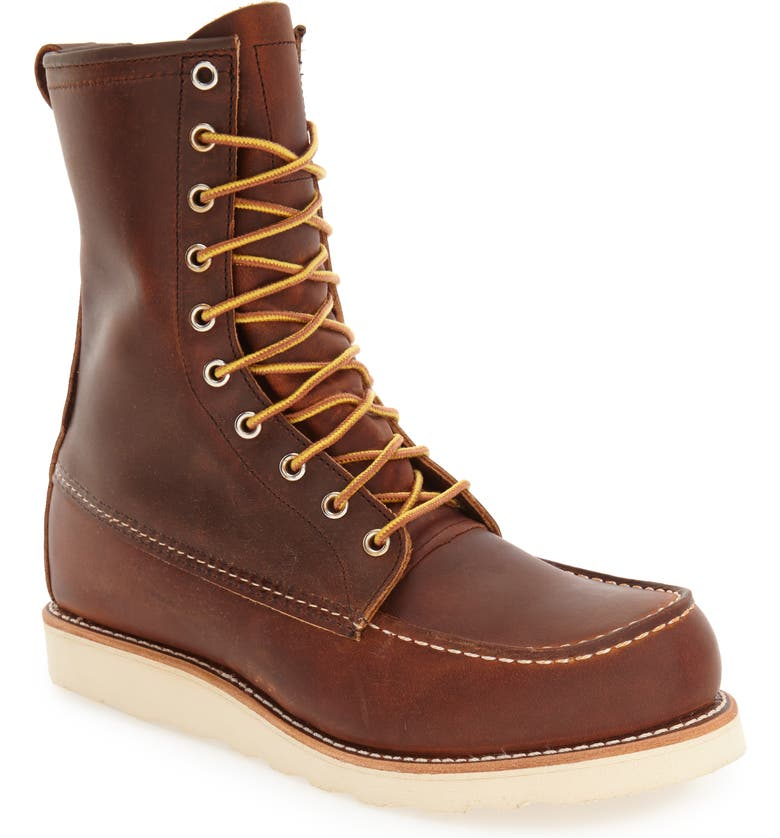 RED WING '877' Moc Toe Boot, Main, color, COPPER LEATHER