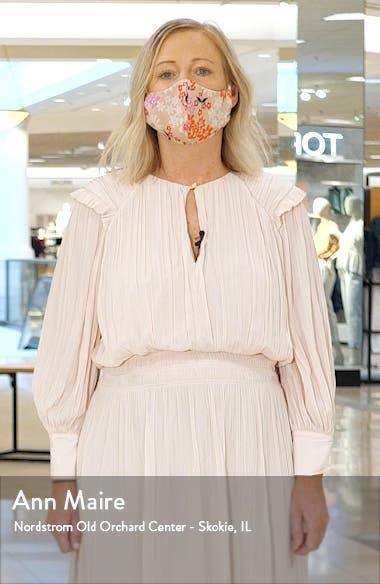 Ella Floral Long Sleeve Linen Blend Midi Dress, sales video thumbnail