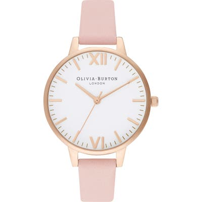 Olivia Burton Timeless Leather Strap Watch,