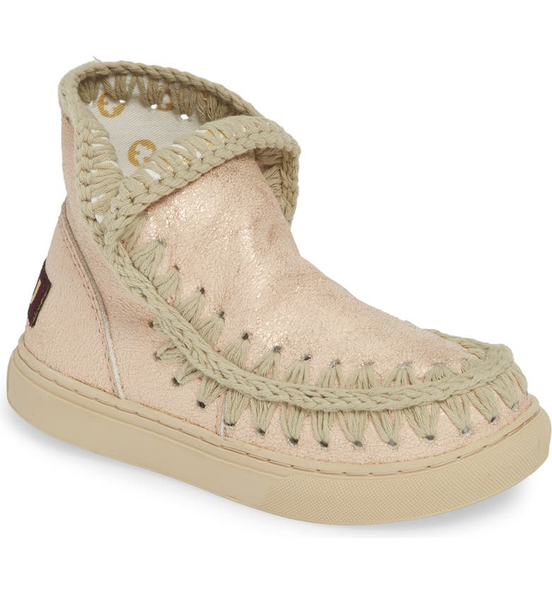 MOU Sneaker Boot, Main, color, BEIGE SYNTHETIC LEATHER