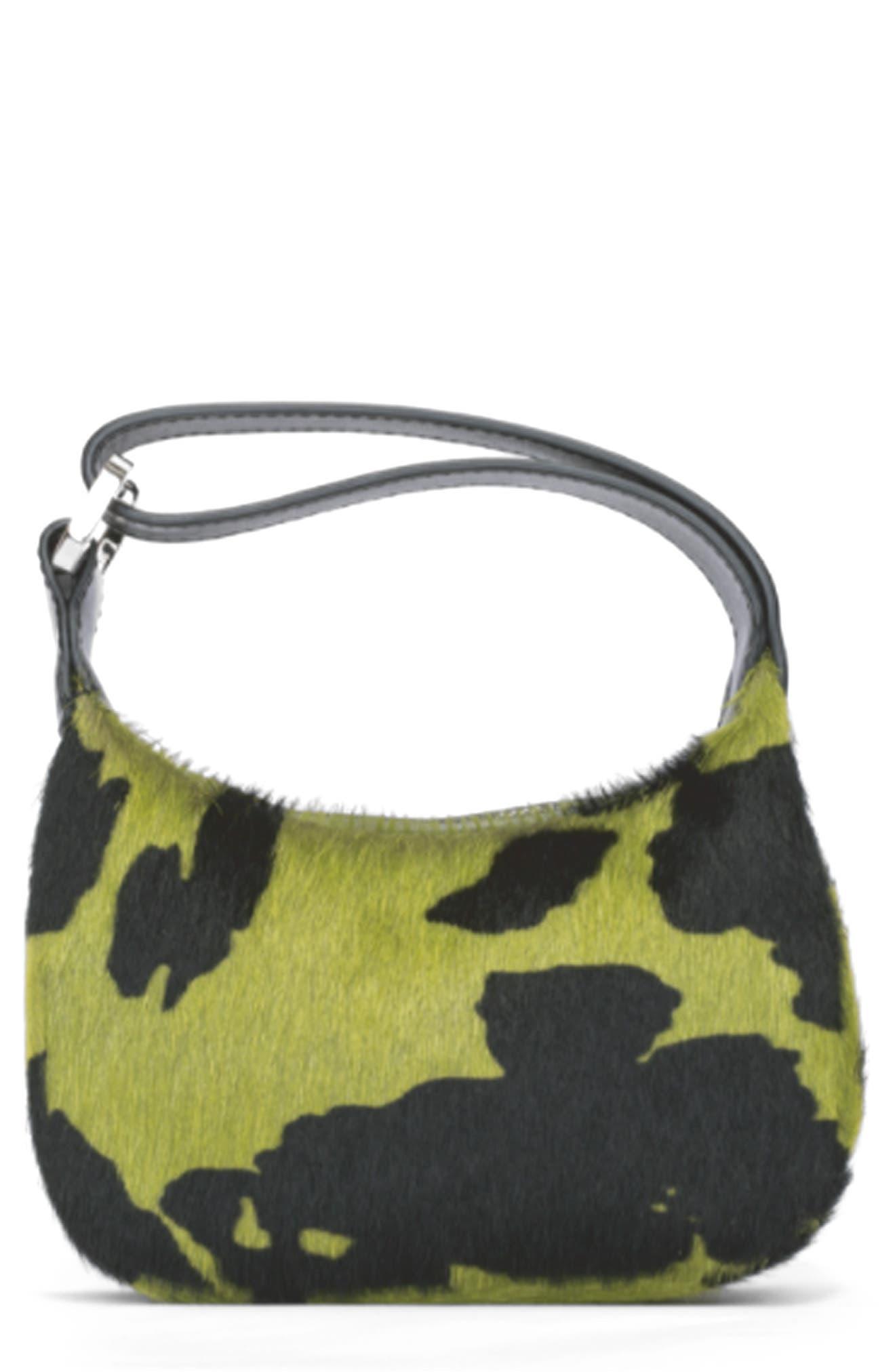 Eera Mini Moonbag Genuine Calf Hair Top Handle Bag
