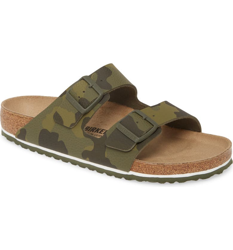 BIRKENSTOCK Arizona Slide Sandal, Main, color, DESERT SOIL CAMO GREEN