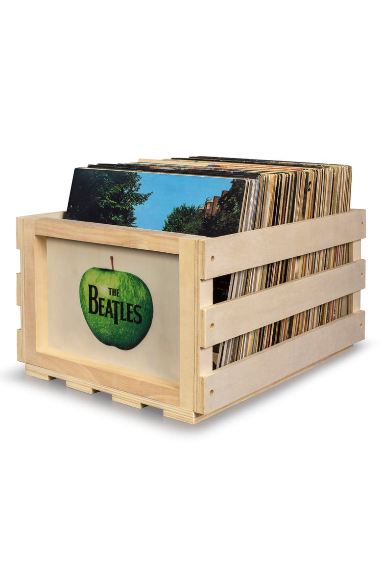 CROSLEY RADIO The Beatles Record Storage Crate, Main, color, BEATLES-TAN