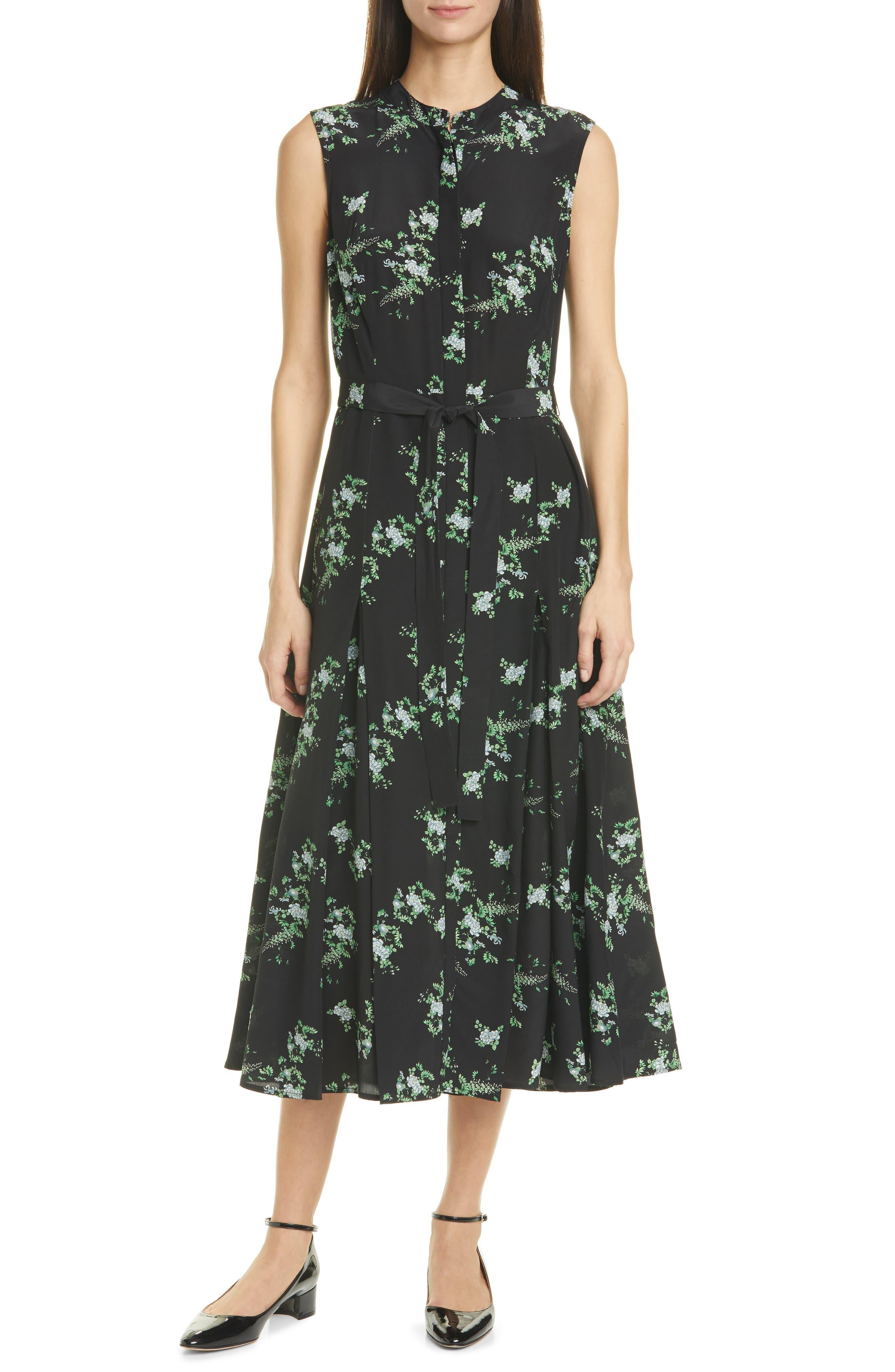 Salerno Floral Print Sleeveless Dress