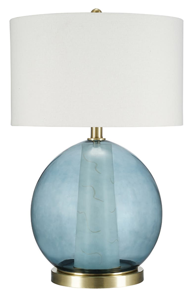 JALEXANDER LIGHTING Orla Glass Table Lamp, Main, color, BLUE