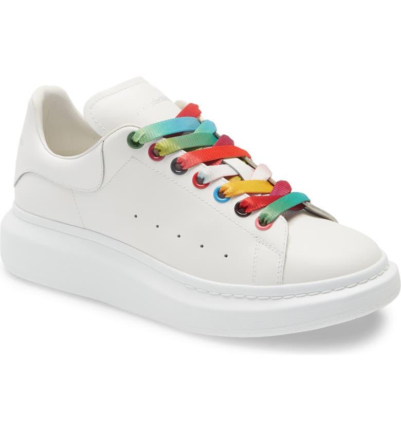 ALEXANDER MCQUEEN Oversize Low Top Sneaker, Main, color, WHITE/ MULTI/ RAINBOW