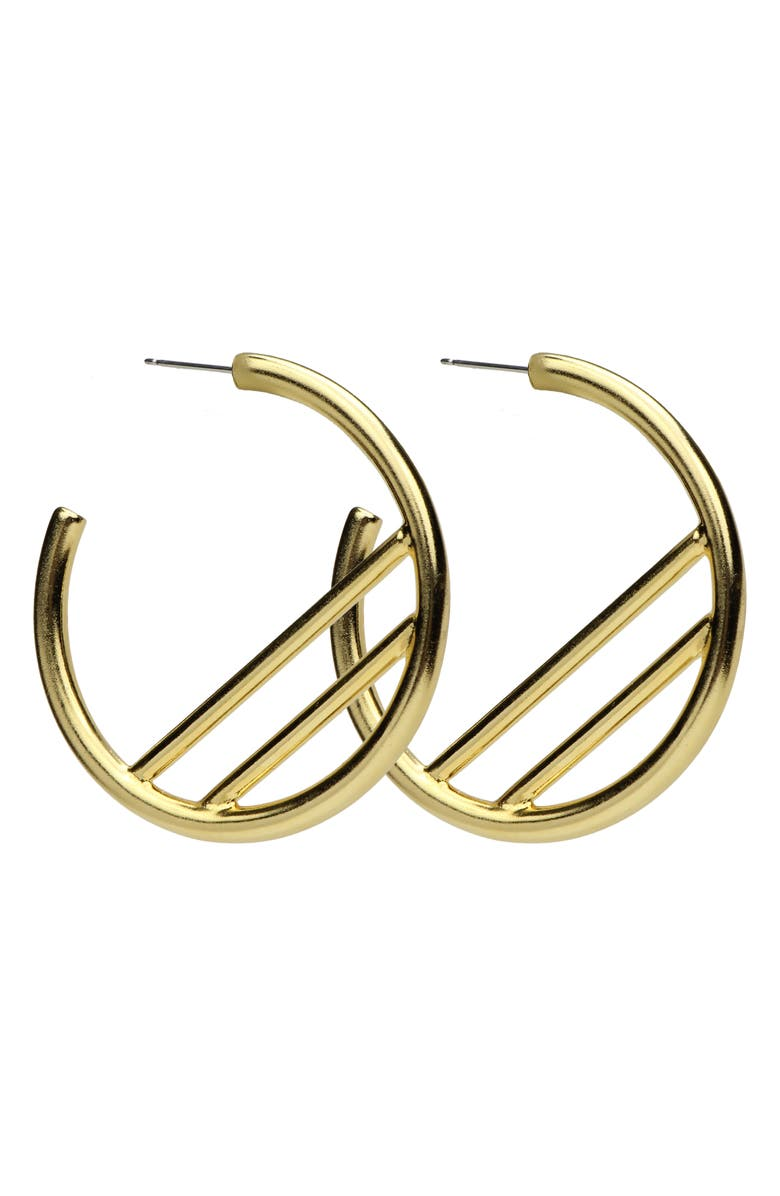 Ben Amun Large Hoop Earrings