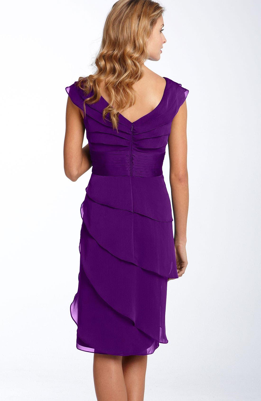 ,                             Tiered Chiffon Dress,                             Alternate thumbnail 40, color,                             500