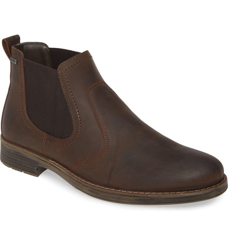 NORDSTROM MEN'S SHOP Gavin Waterproof Chelsea Boot, Main, color, BROWN LEATHER