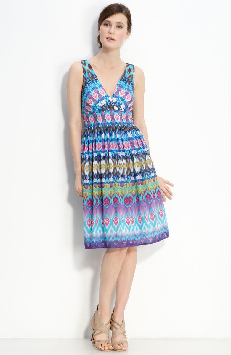 ELIZA J Print Cotton Blend Dress, Main, color, 400