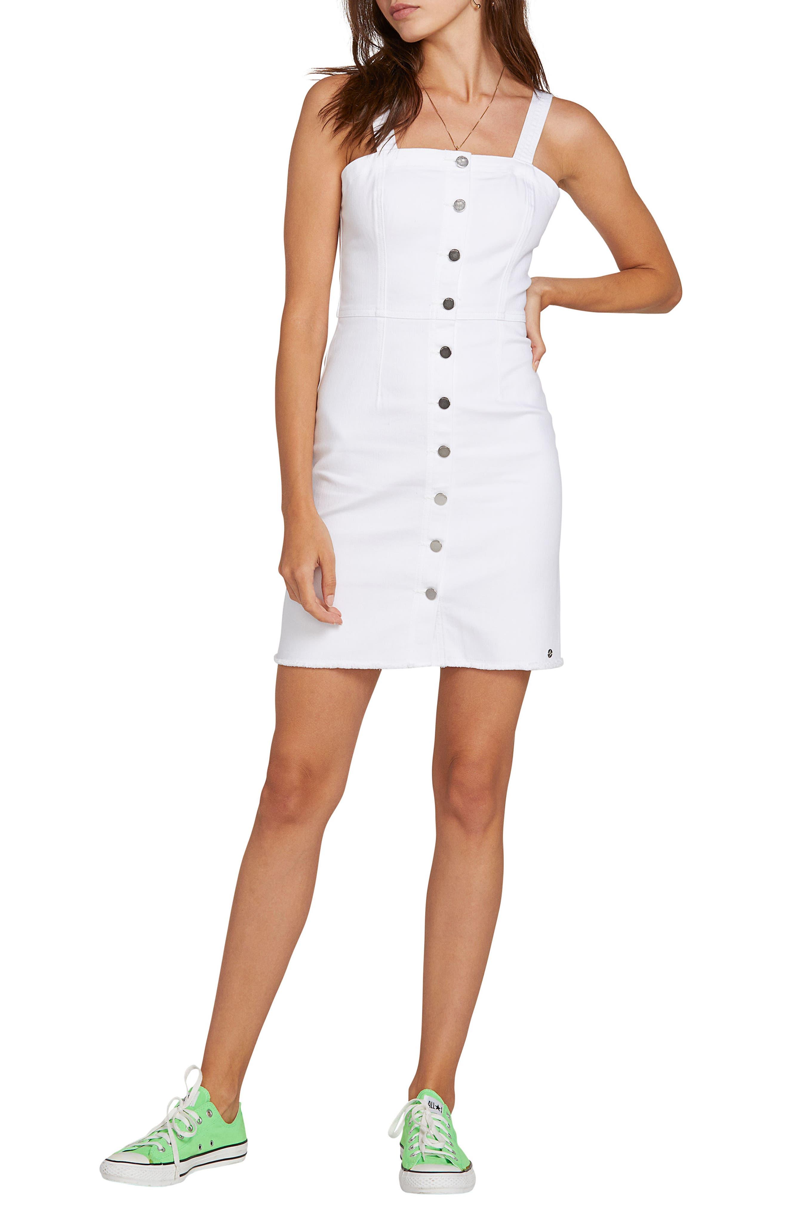 Volcom Vol Stone Denim Dress, White