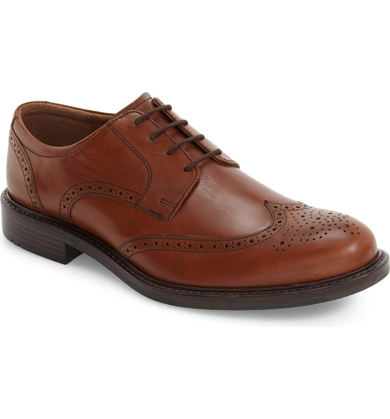 JOHNSTON & MURPHY Tabor Wingtip, Main, color, TAN LEATHER