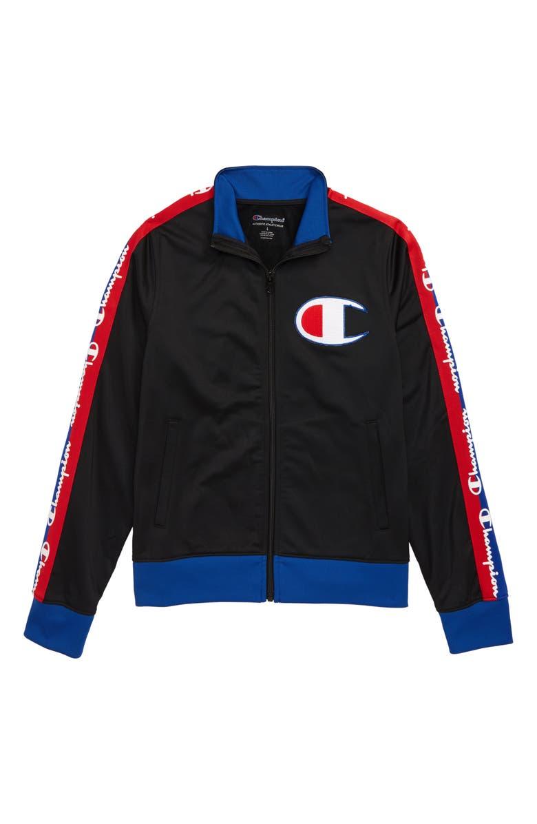 CHAMPION Full Zip Track Jacket, Main, color, 001