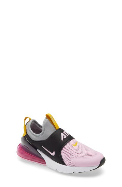 Nike Kids' Big Girls Air Max 270 Extreme Casual Sneakers From Finish Line In Particle Grey/ Light Pink