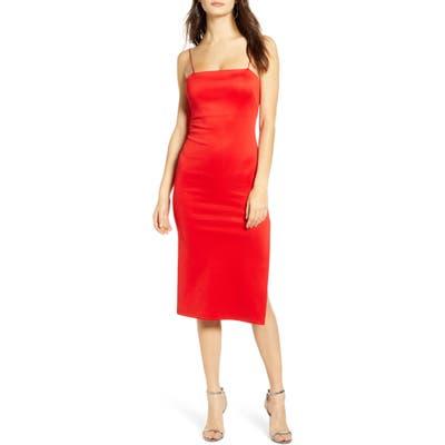 4Si3Nna Soren Sleeveless Side Slit Dress, Red