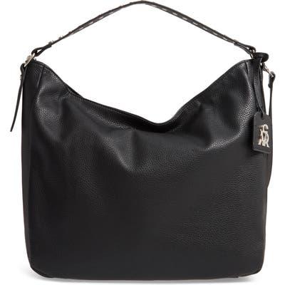 Steve Madden Pebbled Leather Convertible Hobo - Black