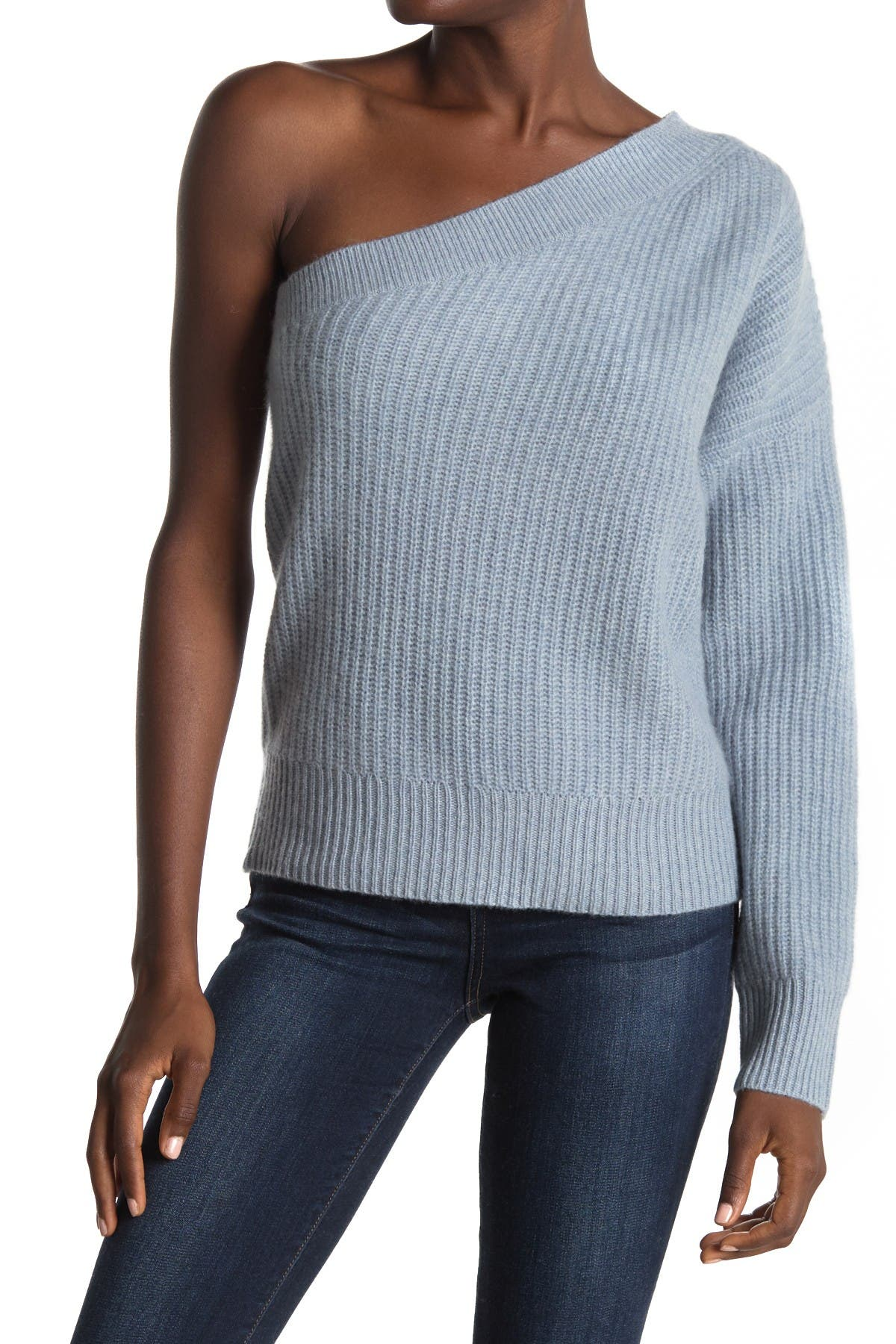 Image of 360 Cashmere Lena One Shoulder Cashmere Sweater