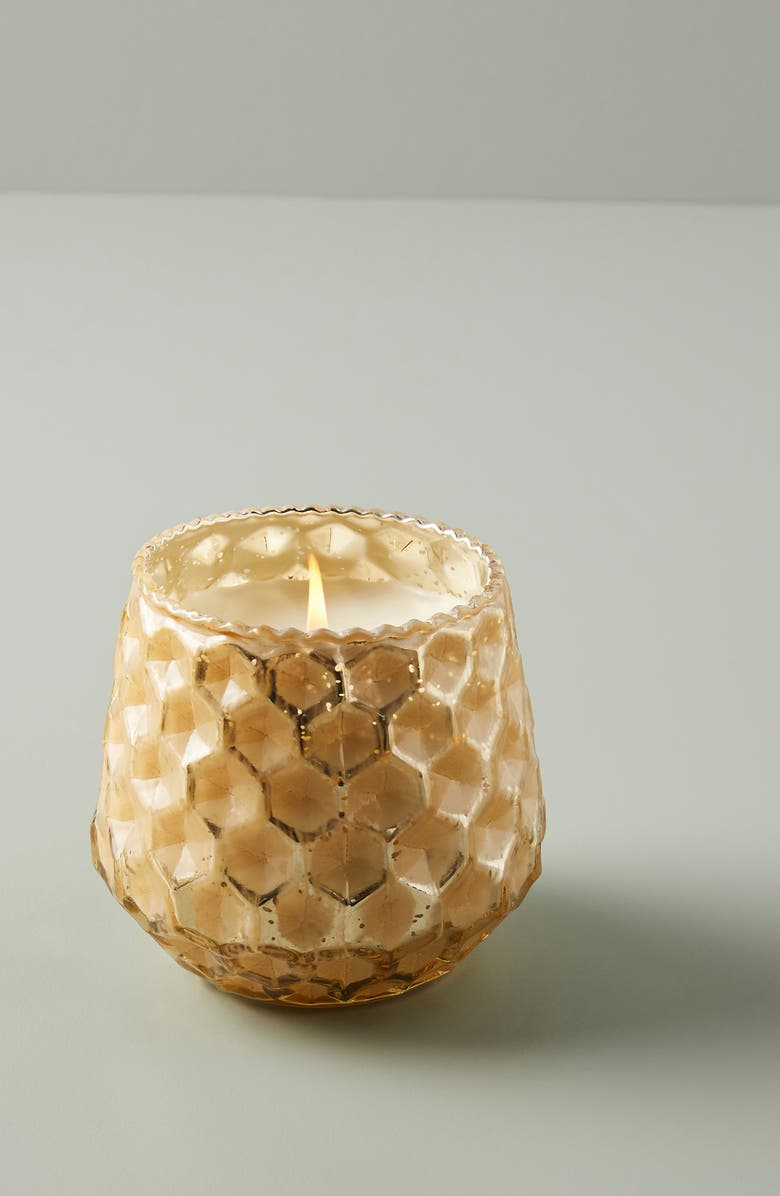 ANTHROPOLOGIE Medium Honeycomb Scented Candle, Main, color, APPLE