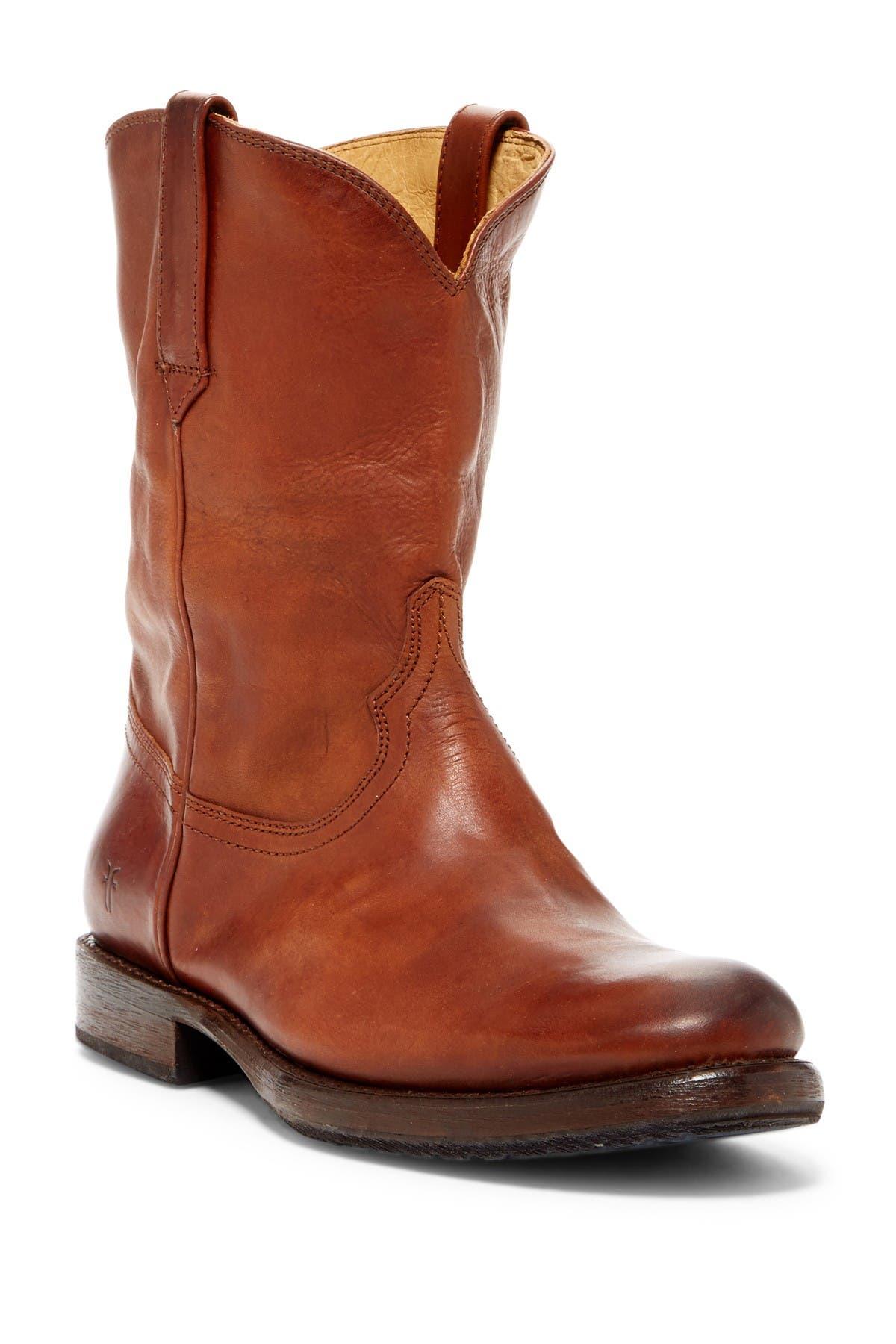 Frye Duke Roper 81311 Mens Brown Suede Western Slip On Boots Shoes
