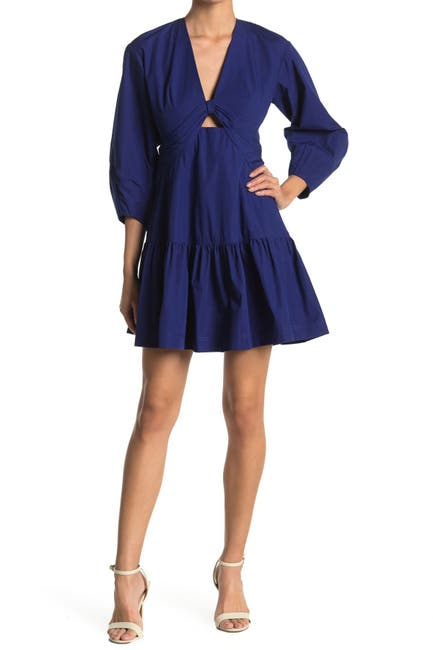 Image of DEREK LAM Talia Keyhole Flounce Dress
