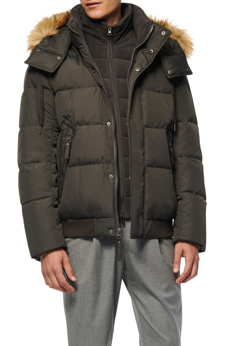 MARC NEW YORK Clermont Insulated Bomber Jacket, Main, color, SMOKE