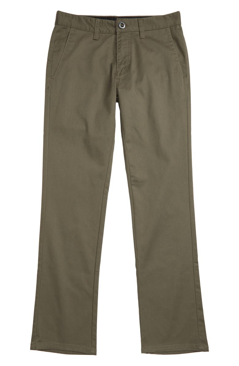 VOLCOM Modern Stretch Chinos, Main, color, ARMY GREEN COMBO