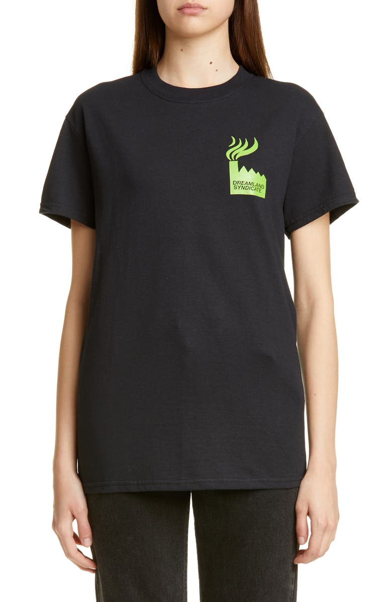 DREAMLAND SYNDICATE Factory Graphic Tee, Main, color, BLACK