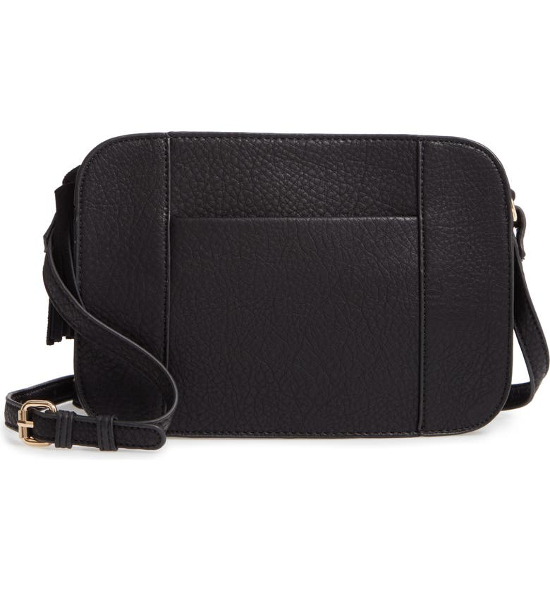 SOLE SOCIETY March Faux Leather Crossbody Bag, Main, color, 001