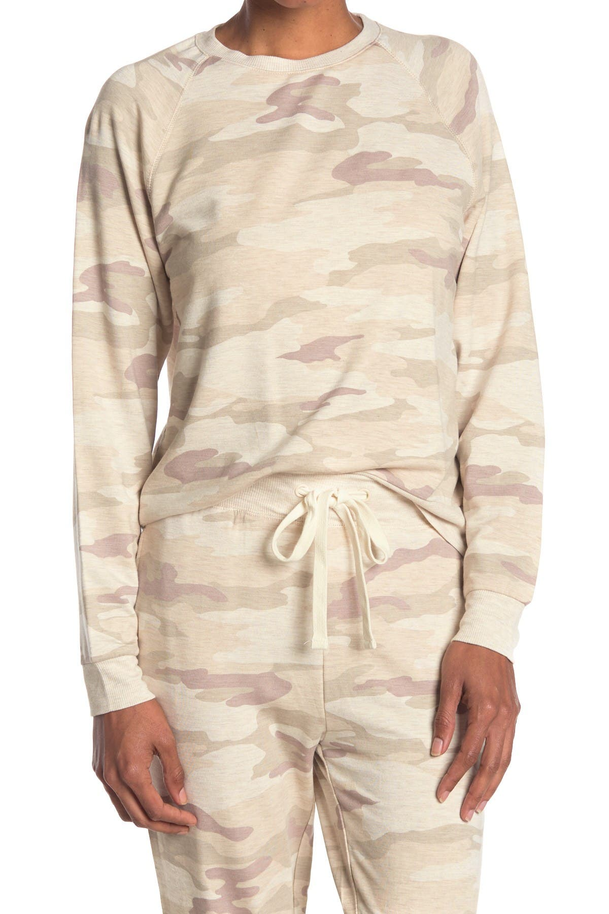 Image of THREAD AND SUPPLY Jacey Camo Print Raglan Pullover