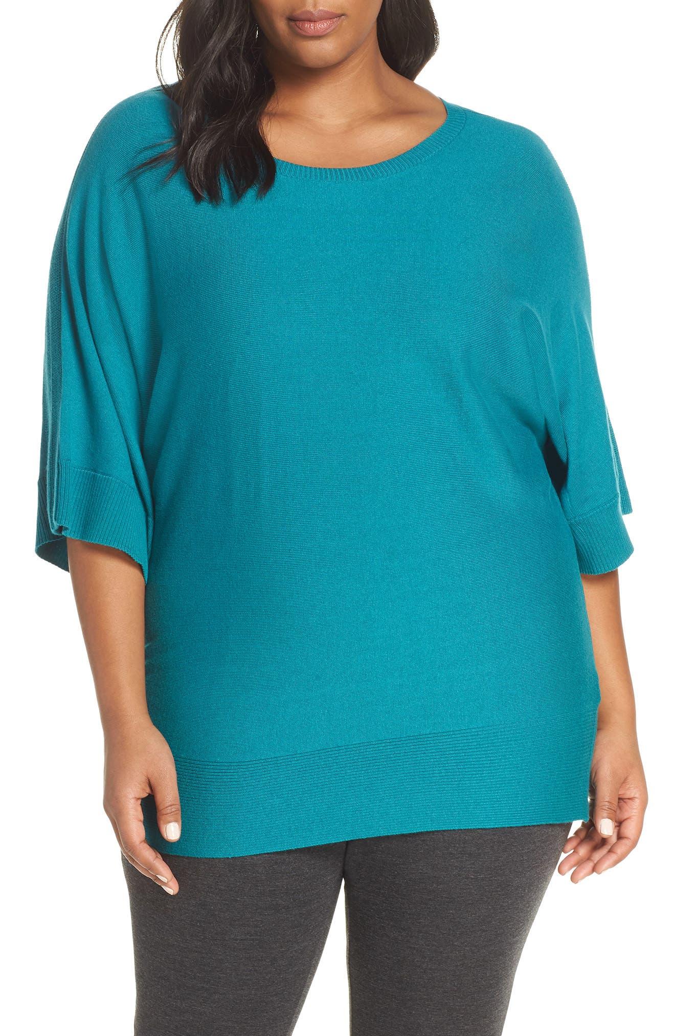 ,                             Cotton Blend Dolman Sleeve Sweater,                             Main thumbnail 7, color,                             440