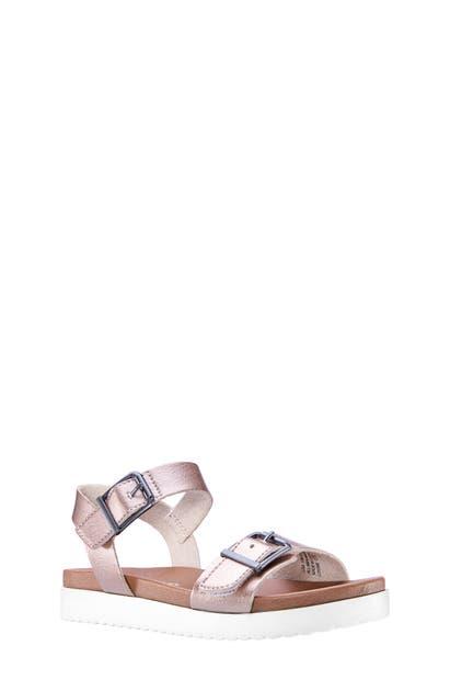 Nina Girls' Jacklin Ankle-strap Sandals - Walker, Toddler, Little Kid, Big Kid In Rose Gold Metallic