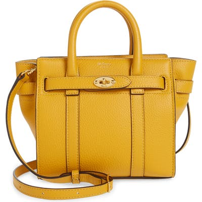 Mulberry Micro Bayswater Leather Satchel - Yellow