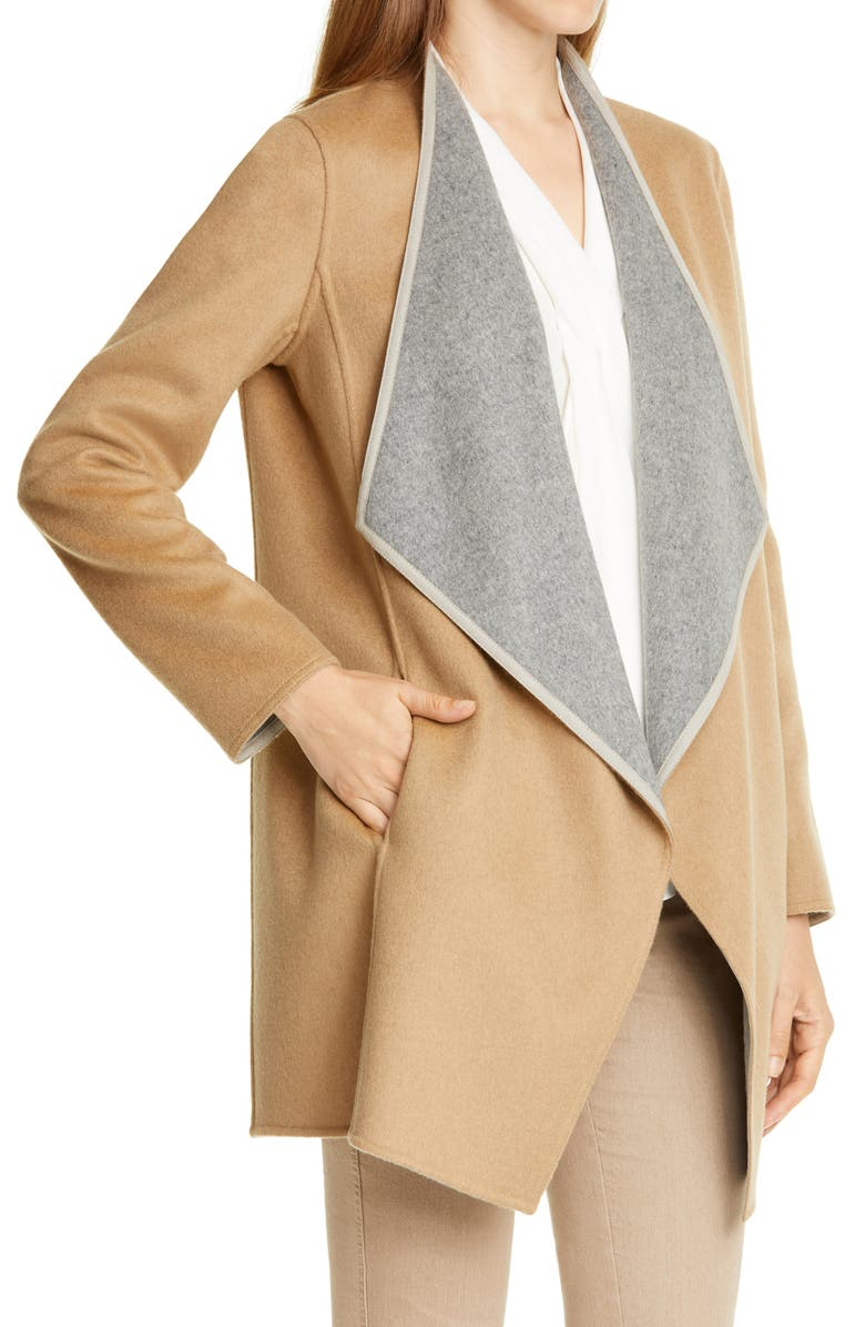 LAFAYETTE 148 NEW YORK Valasca Reversible Wool & Cashmere Jacket, Main, color, 020