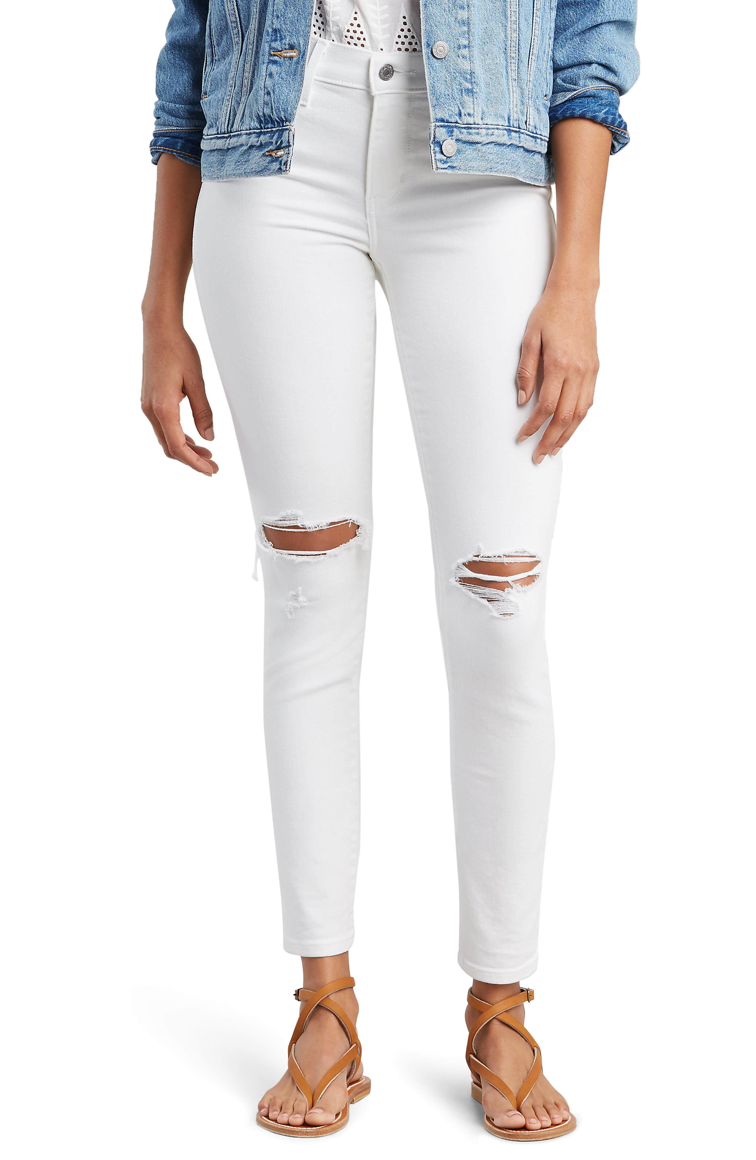 ,                             311<sup>™</sup> Shaping Skinny Jeans,                             Main thumbnail 1, color,                             WHITE SLATE