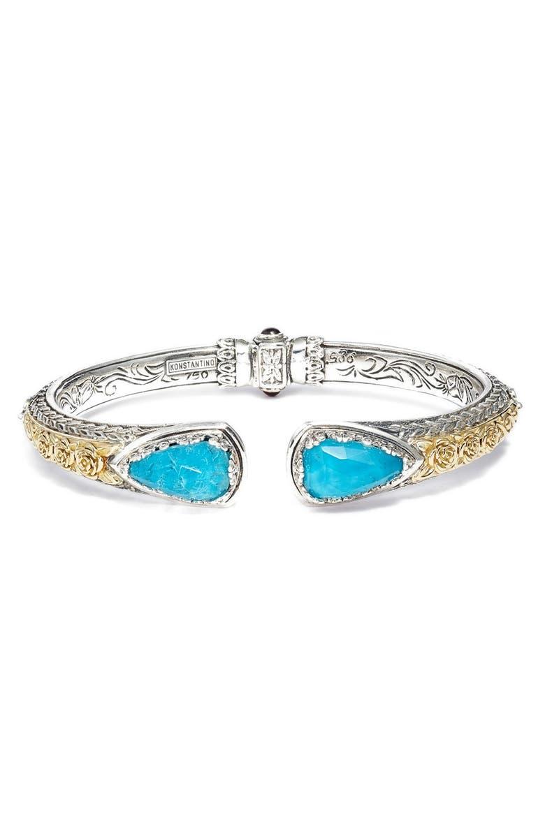 KONSTANTINO 'Iliada' Stone Cuff, Main, color, BLUE/ GREEN