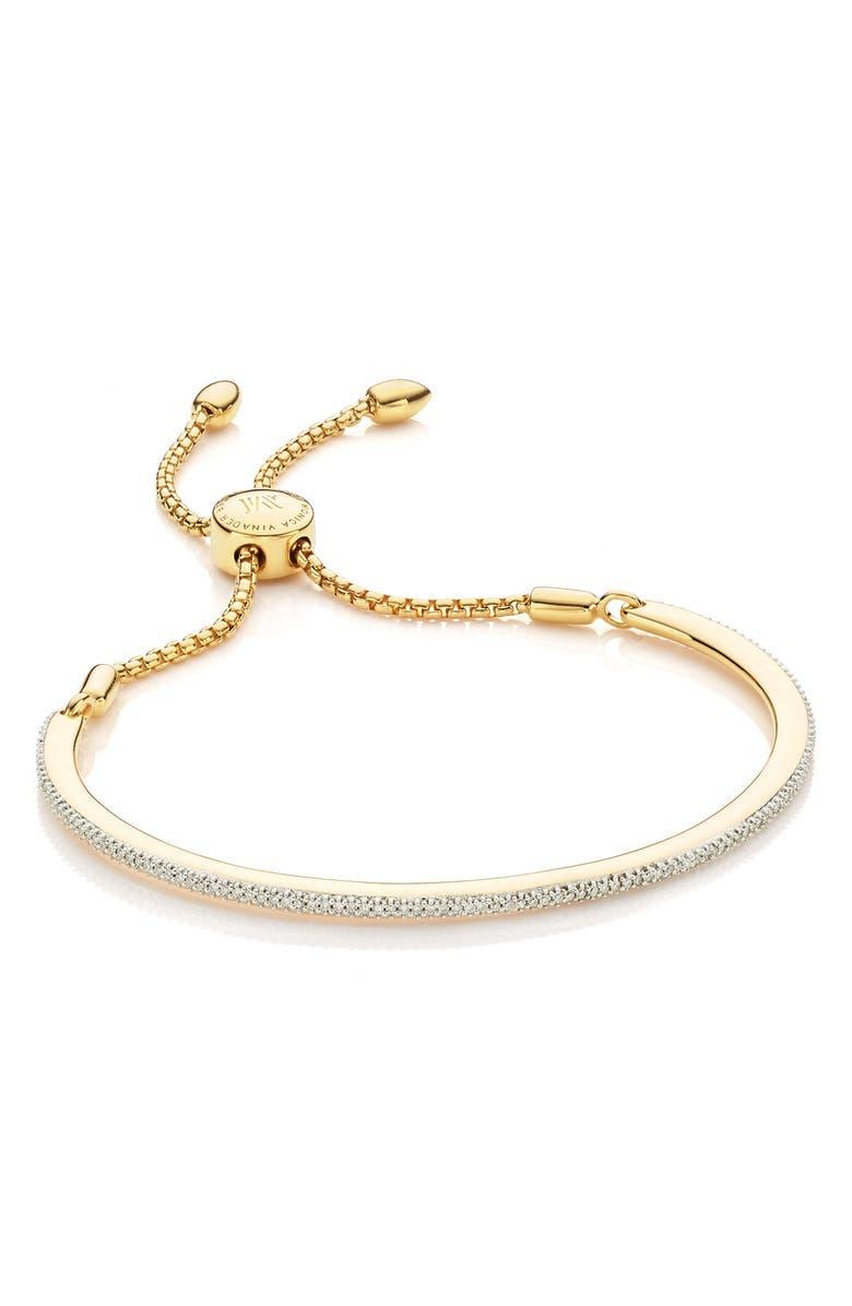 MONICA VINADER Petite Fiji Skinny Bar Chain Diamond Bracelet, Main, color, 715