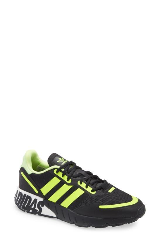 Adidas Originals Adidas Men's Originals Zx 1k Boost Casual Shoes In Black/ Yellow/ Silver