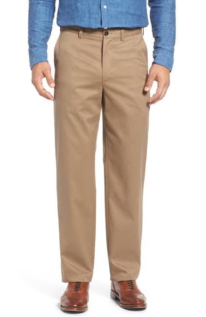 Image of NORDSTROM MEN'S SHOP 'Classic' Smartcare(TM) Relaxed Fit Flat Front Cotton Pants