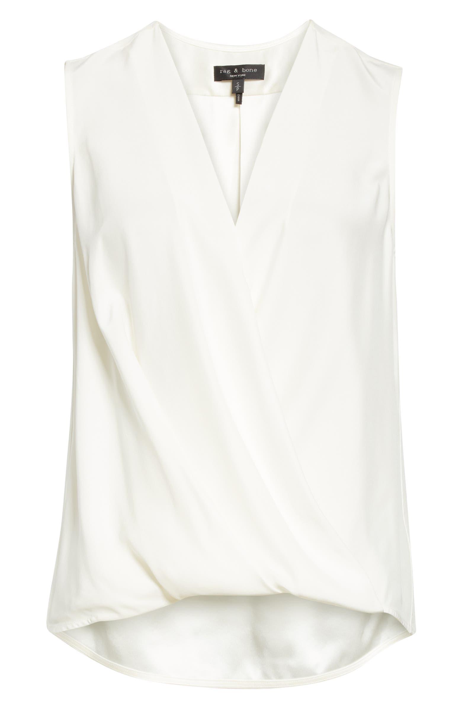 Victor Sleeveless Silk Blouse RAG & BONE