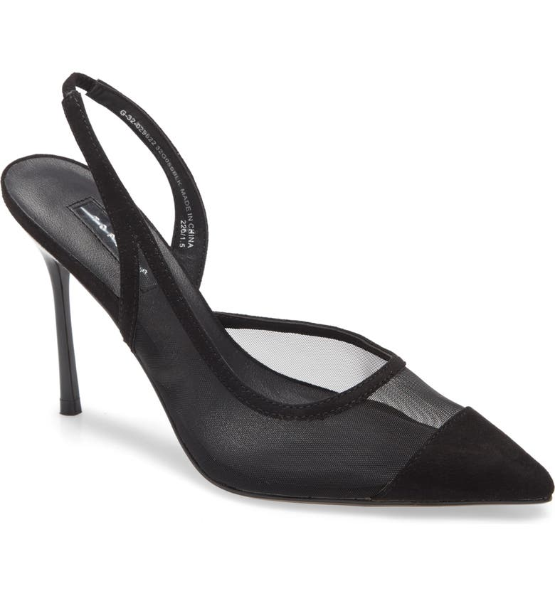 TOPSHOP Fate Pointed Toe Mesh Pump, Main, color, 001