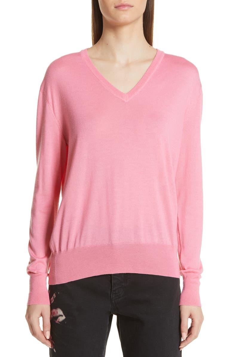 CALVIN KLEIN 205W39NYC Cutout Cashmere & Silk Blend Sweater, Main, color, 657